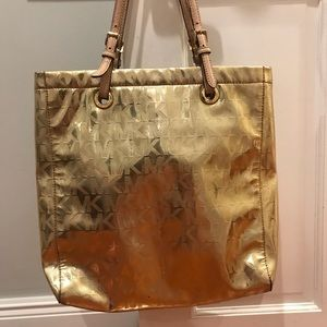 Gold Metallic Michael Kors Shoulder Bag
